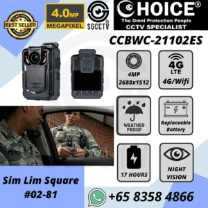 Body Worn Camera CCBWC-21102ES Whole Sale Police Army 4MP 4G WIFI AES256 17 hours BWC