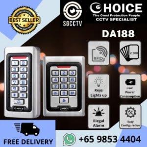 Door Access Control System Electromagnetic Lock Wiring Diagram Installation Price CHOICE RFID Card + Password Reader DA188
