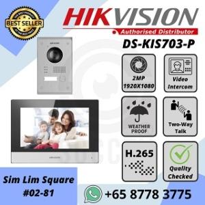 HIKVISION IP INTERCOM DS-KIS703-P Video Door Phone Kit H.265 Full HD 1080P Mobile APP