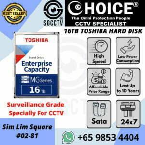 TOSHIBA Enterprise MG Series 16TB Business Gaming Video Storage Cloud PC Laptops