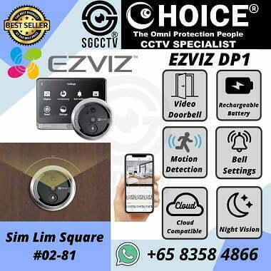 Video Door Bell Wireless Motion Detect Cloud Storage Night Vision Mobile App EZVIZ DP1