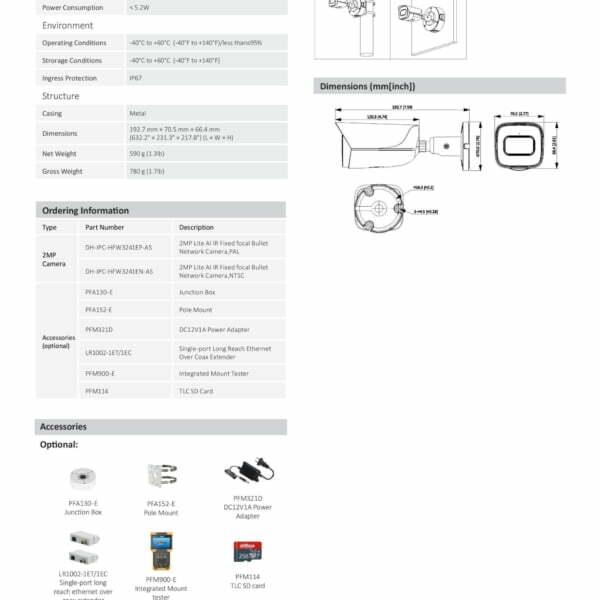 Dahua IPC HFWE AS IR IP Bullet Kamera page  scaled