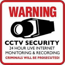 Free Gift CCTV Warning Stickers CCTV Singapore Free Warning Stickers SGCCTV Choicecycle Sim Lim Square 02-81